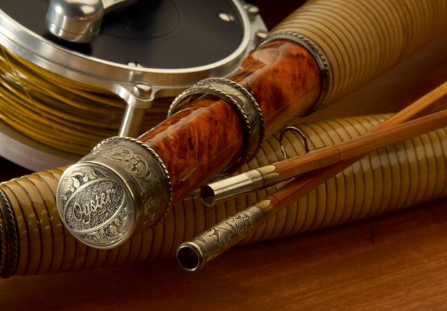 Vintage Bamboo Fly Rod And Reel